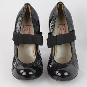Black Lanvin Padded Leather Pumps